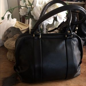 Vintage leather Coach Speedy bag